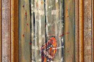 """Tiina Ojaste """"Suveniir"""" (õli) 24 x 75 cm. Hind 650.-"""