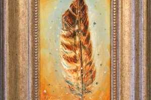 """Tiina Ojaste """"Kirjasulg"""" I (õli) 18 x 23,5 cm. Hind 180.-"""