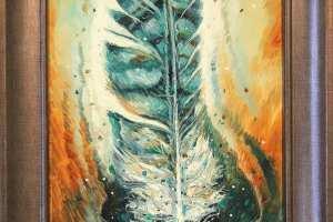 "Tiina Ojaste ""Sabasulg"" (õli) 23,5 x 33 cm. Hind 320.-"