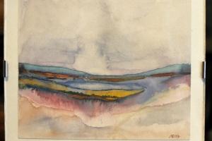 Maastik 1 akvarell Aivar Rumvolt 1997
