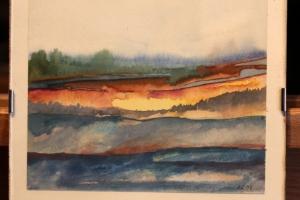 Maastik 2 akvarell Aivar Rumvolt 1997