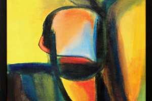 """Andrus Rõuk """"Bumerang 1."""" akrüül 2012. 44 x 44 cm. 550.-"""