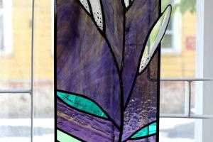 """""""Valge liilia"""", 55,5 x 22 cm, hind 230.-"""