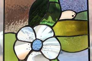 "Anne Vasar ""Valge lill"" 2021. 24 x 26 cm. 170.-"