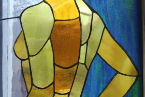 "Anne Vasar ""Naine"" 2021. 50,5 x 45,5 cm. 500.-"