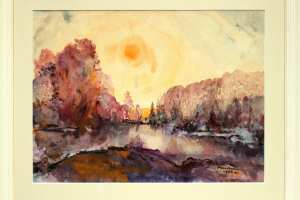Bernhard Mark (akvarell) 63 x 52 cm. Hind 325.-