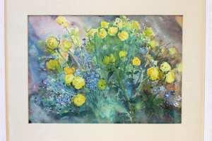Bernhard Mark (akvarell) 62 x 50 cm. 225.-
