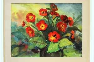 Bernhard Mark (akvarell) 61 x 51 cm. 225.-