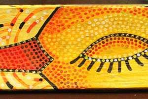 """Epp Margna """"Kuldne lind"""" 62 x 10 cm"""
