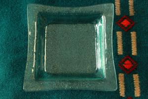 Geenart Nagel. Klaasist taldrik 18 x 18 cm. Hind 20.-