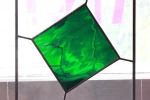 Geerant Nageli vitraaž 19 x 21 cm. Hind 130.-