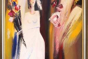 """Igor Makejev """"Pruut"""" 2006 õli, 73 x 76 cm, hind 4500.-"""