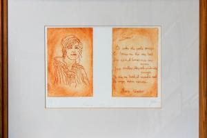 """""""Marie Under"""" 43 x 53 cm, hind 149.-"""