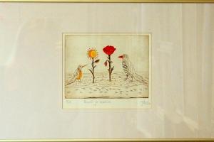 """Kuulill ja moonilill"" 34 x 57,5 cm, hind 185.-"