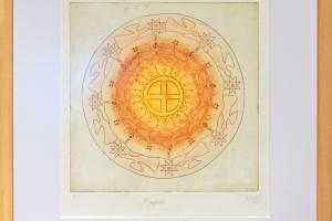 """Jana Schütz """"Mandala"""", 53 x 58 cm, hind 320.-"""