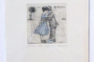 "Kadi Kurema ""Hoiavad"" (ofort) 2009. 27 x 23 cm."