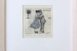 "Kadi Kurema ""Hoiavad"" (ofort) 29 x 33 cm."