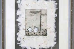 """Kadi Kurema """"Suveöö"""" (ofort) 1999. 42 x 35 cm."""