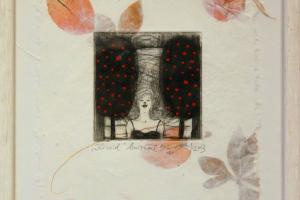 """""""Kirsid"""" (kuivnõel) 2003. 23 x 28 cm"""