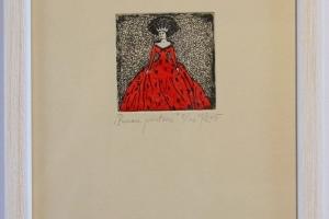 """""""Punane printsess"""" 2015. 17 x 23 cm"""