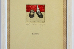 """Saabuja"" (ofort) 2010. 17 x 23 cm"