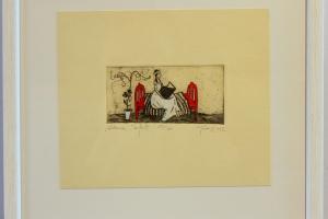"""""""Hernes"""" (ofort) 2012. 23 x 27 cm"""