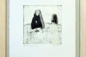 """Kadi Kurema """"Aplaus"""" (ofort) 2008. 29 x 32 cm"""