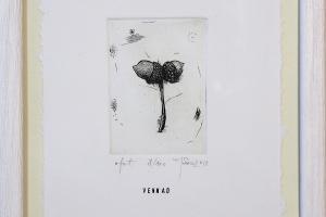 Vennad, ofort, 17 x 23 cm