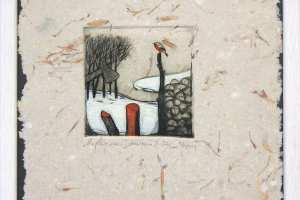 """""""Lepapuu"""" (kuivnõel). 23 x 26 cm."""