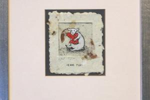 """""""Pehme padi"""" (ofort) 23 x 27 cm."""