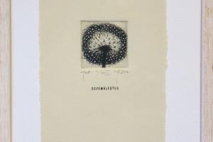 """""""Suvemälestus"""" (ofort) 23 x 26 cm."""