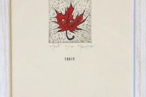 """Sügis"" (ofort). 23 x 17 cm"