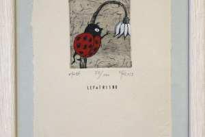 """Lepatriinu"" (ofort). 23 x 17 cm"