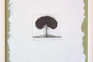 """Kadi Kurema """"Õunapuu"""" (kuivnõel) 1998. 27 x 23 cm"""