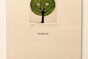 """""""Kaanepuu"""" (ofort) 2017. 17 x 23 cm"""