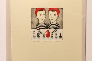 """Kaksikud"" (ofort) 2015. 30 x 33 cm"