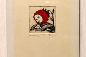 """""""Teetassike"""" 2015. 17 x 23 cm"""