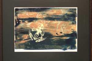 """Kalli Kalde """"Kuum tuul"""" segatehnika. 2018. 50 x 41 cm. HInd 185.-"""