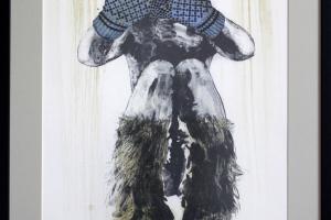 """Kalli Kalde """"Olen...?"""" (litograafia) 2017. 65 x 88 cm."""
