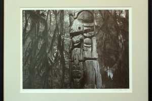 "Kalli Kalde ""Hingemets III"" (litograafia) 2019. 57 x 44 cm. Hind 250.-"