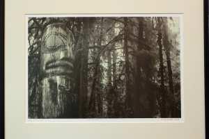 """Kalli Kalde """"Hingemets I"""" (litograafia) 2019. 57 x 44 cm. Hind 250.-"""
