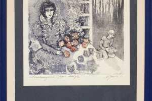 """Külliki Järvila """"Lumekuninganna"""" (ofort, akvatinta) 2005. 42 x 32,5 cm"""