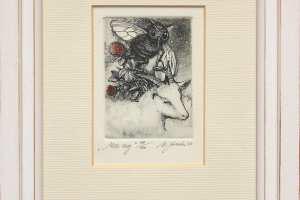 """Külliki Järvila """"Mee aeg"""" 2006. 19,5 x 24,5 cm."""