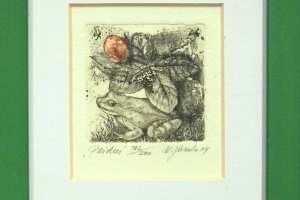 """Külliki Järvila """"Peidus"""" 2004. 12,5 x 17,5 cm"""