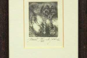 "Külliki Järvila ""Hunt"" 2002. 12 x 17 cm"