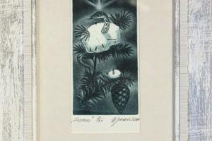 """Külliki Järvila """"Lumes"""" 2000. 14 x 19 cm"""