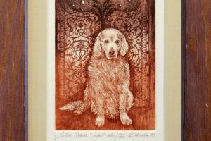 """""""Sõber koer"""" 24,5 x 18,5 cm, hind 45.-"""