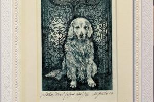 """""""Sõber koer"""" 23,5 x 18,5 cm, hind 45.-"""