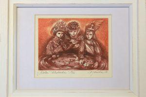 """Külliki Järvila """"Kolm tähetarka"""" 24,5 x 19,5 cm"""