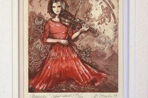 """Külliki Järvila """"Maarja"""" 24,5 x 19,5 cm"""